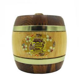 Мёд натуральный - луговое разнотравье в дер. бочонке 0,25 кг.