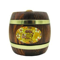 Мёд натуральный - гречишный в дер. бочонке 250 гр.