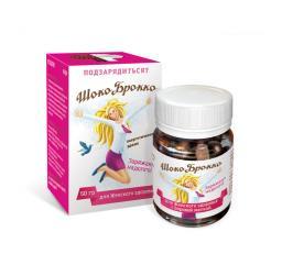 Энергетические Драже ШокоБрокко для женского здоровья с бобровой маткой, 50гр