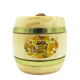 Мёд натуральный - липовый в дер. бочонке 0,25кг.