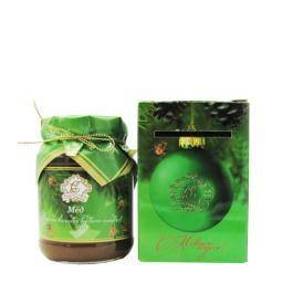 Мёд натуральный стекло 350 гр. в сувенирной коробочке дягиль С новым Годом!
