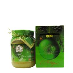 Мёд натуральный стекло 350 гр. в сувенирной коробочке липовый С новым Годом!
