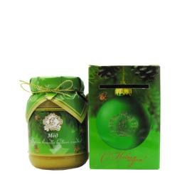 Мёд натуральный стекло 350 гр. в сувенирной коробочке цветочный С новым Годом!