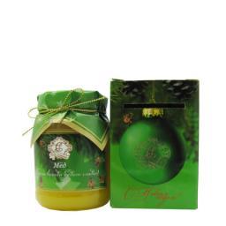 Мёд натуральный стекло 350 гр. в сувенирной коробочке подсолнух С новым Годом!