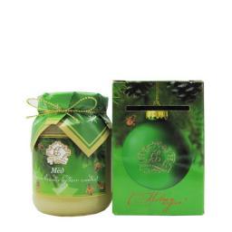 Мёд натуральный стекло 350 гр. в сувенирной коробочке донник С новым Годом!
