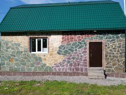 Природный камень сланец красный отборный в мешках L 12-40 см.