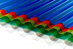 Профилированный поликарбонат 1050х2000х0.8 мм (ЦВЕТНОЙ)