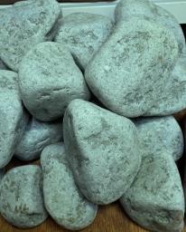 Камень Жадеит отборный для бани и сауны (галтованный)