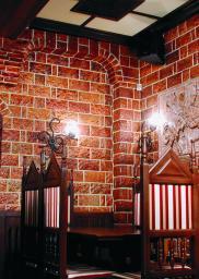 Жаростойкая керамическая плитка Старый замок Макси угловая