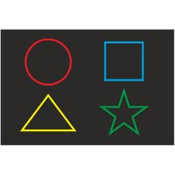Панель «Цветные фигуры 4» говорящая