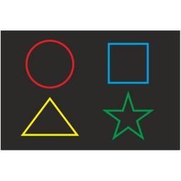 Панель «Цветные фигуры 4»