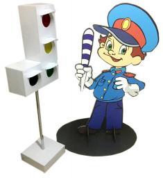 Фигура инспектора двухсторонняя для детской игровой площадки