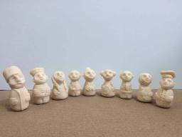 Набор глиняных человечков для сказкотерапии и песочной терапии
