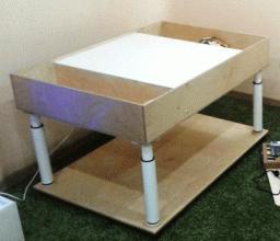 Платформа на колесах для песочной анимации 100*60см