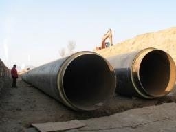 Производство труб в ППУ изоляции Д=820 мм