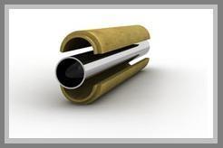 Скорлупа ППУ для изоляции труб Д=219 мм