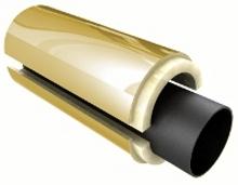 Скорлупа ППУ для труб Д=57/125 мм