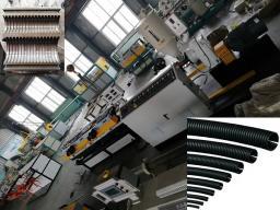 экструзионная линия для производства однослойной гофрированной трубы из ПЭ