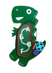 Комплект бизибордов «Динозаврики»