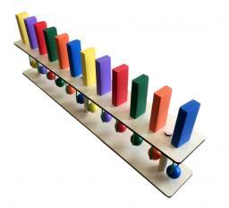 Тактильное-развивающая панель «Разноцветное домино»