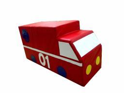 Контурная мягкая игрушка фургон «Пожарная машина»