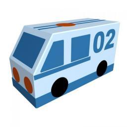 Контурная мягкая игрушка фургон «Полиция»