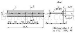 Закладная деталь МН 104-1