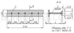 Закладная деталь МН 104-3