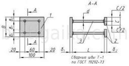 Закладная деталь МН 105-6