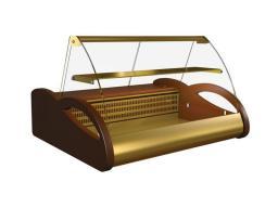 Витрина настольная ПОЛЮС ВХС-1,0 Арго (brown&gold)