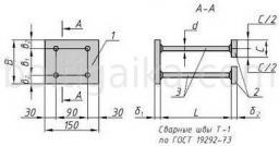 Закладная деталь МН 114-4