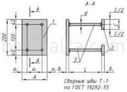 Закладная деталь МН 117-3