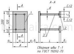 Закладная деталь МН 118-4