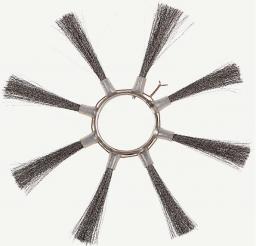 Щётка пучковая ø120х550 (Металлические , сечений проволки 0,4 - 0,5 мм.)