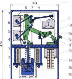 Привод к масляному выключателю ШПЭ -12