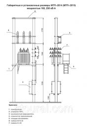 Подстанция трансформаторная двух-столбовая МТП 250/10/0,4; МТП 250/6/0,4