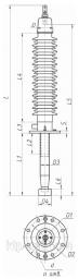 Ввод ГКТПIII-90-126/2000-01, ИВЕЮ.686352.204 Ввод конденсаторного типа с внутренней RIP и полимерной наружной