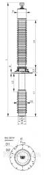 Ввод ГКВIII-60-126/2000-01, ИВУЕ.686352.132  Ввод конденсаторного типа с RIP-изоляцией для выключателей