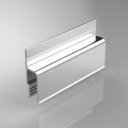 Багет стеновой алюминиевый, длина 2,5м.