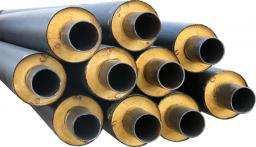 Стальная труба в ППУ изоляции в ПЭ оболочке д=219х6,0/355 мм
