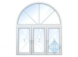Тройное окно с аркой