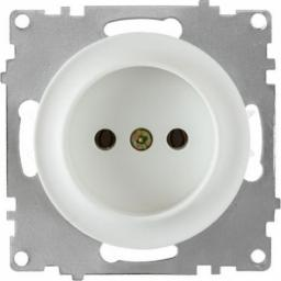 Розетка без заземления, винтовые контакты (серия Florence) (Цвет белый )