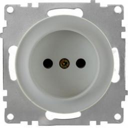 Розетка без заземления, винтовые контакты (серия Florence) (Цвет серый)