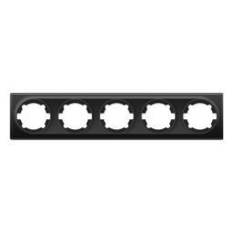 Рамка на 5 приборов (серия Florence) (Цвет черный)