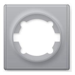 Рамка одинарная (серия Florence) (Цвет серый)