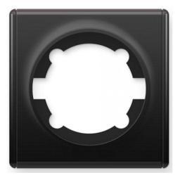 Рамка одинарная (серия Florence) (Цвет черный)