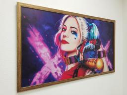 Картина - Постер (Девушка Джокера). Размер: 650x1270 мм.