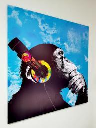 Картина - Постер (Шимпанзе Арт). Размер: 1000x1000 мм.