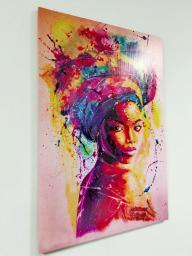 Картина - Постер (Африканка). Размер 900x600 мм.