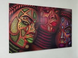 Картина - Постер (Этнические мотивы Африки). Размер 600x900 мм.